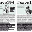 #Save194 – La legge 194 ancora sotto attacco!